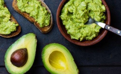 bowl of guacamole avocado toast