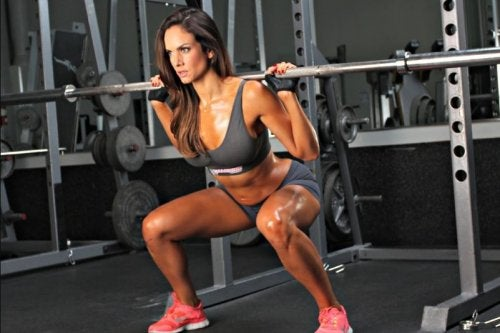 squats with weights quads