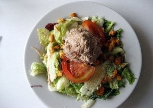 Tuna salad as a fish dinner.
