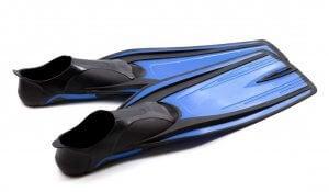 Swimming fins.