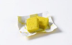 Two bouillon cubes.
