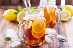 Two jars of iced tea