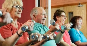 Seniors participating in active aging.