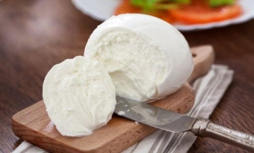 A ball of fresh Mozzarella cheese