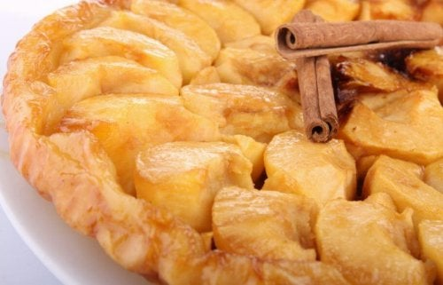 Fruit dessert apple puff pastry