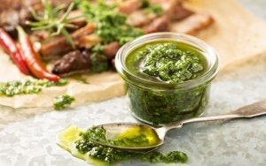 Cold Sauces: green sauce.