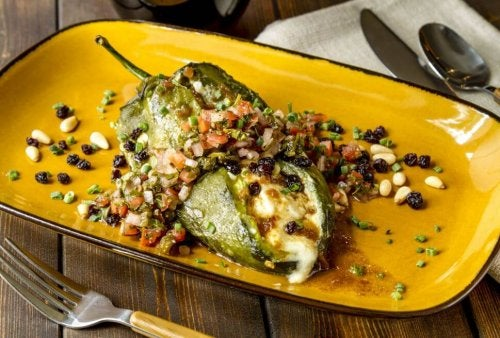 Chiles rellenos are spicy.