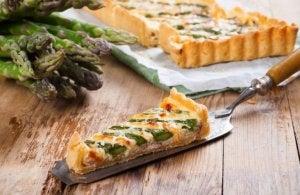 Quiche using asparagus