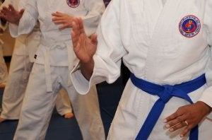 Boys practicing Hapkido.
