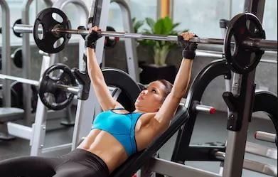 bench press is one of the arm exercises for women