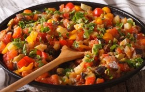 Spanish Pisto is a vegetable recipe.