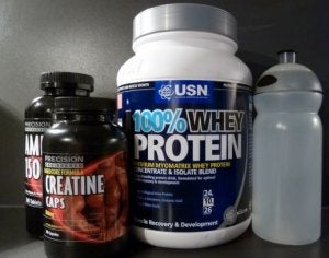 Protein supplements.