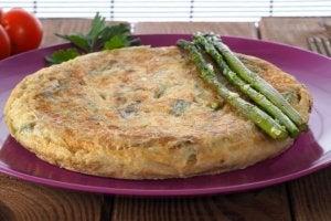 Wild asparagus tortilla