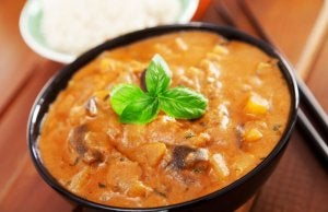 A sauce with curry