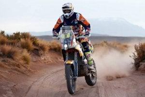 Motorcycle in Dakar Rally.