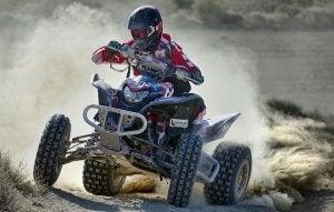 Quad in Dakar Rally.
