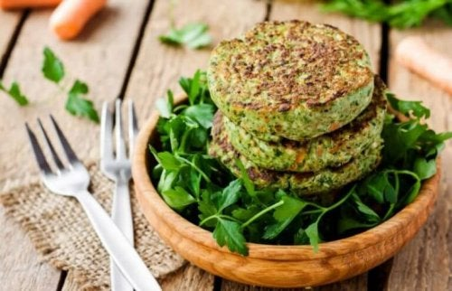 Texture soy and spinach burgers