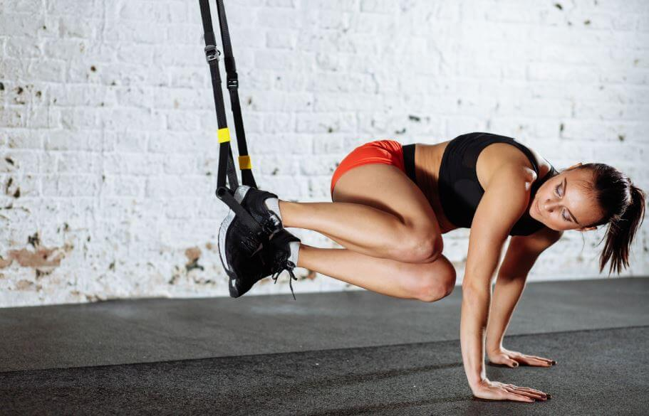 woman suspension training