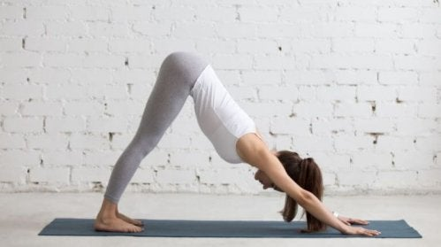 Down dog is a great pose to strengthen the ankles