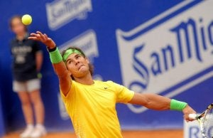 Rafael Nadal during a tennis match