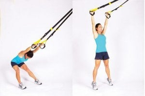 back extension TRX routine