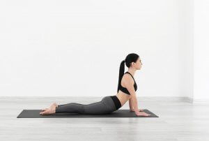 Best post-workout stretches: cobra pose.