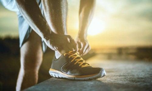 man running shoes
