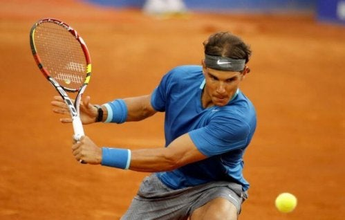 Nadal playing at the Roland Garros