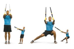 TRX routine squat