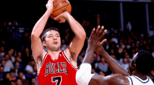 Toni Kukoc during a game as part of the Jordan's Bulls