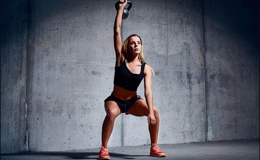 woman exercising endorphins
