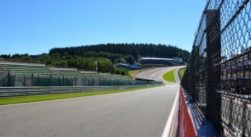 The Eau Rouge curve at the Spa-Francorchamps