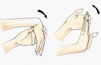 Wrist stretching exercises should be repeated 3 times.