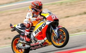 Marc Márquez during a race