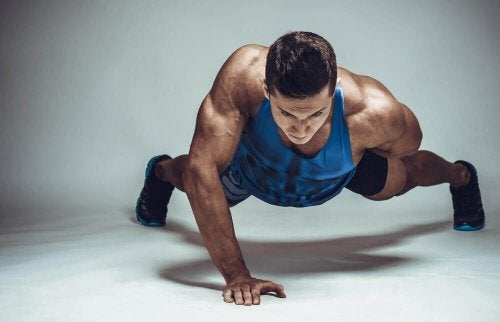 One-armed push-ups are very hard to do.