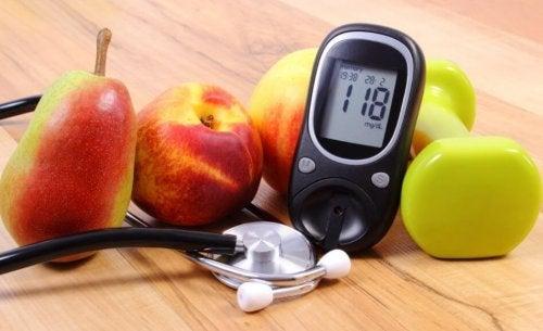 Fruits contain natural sugar and vitamins.