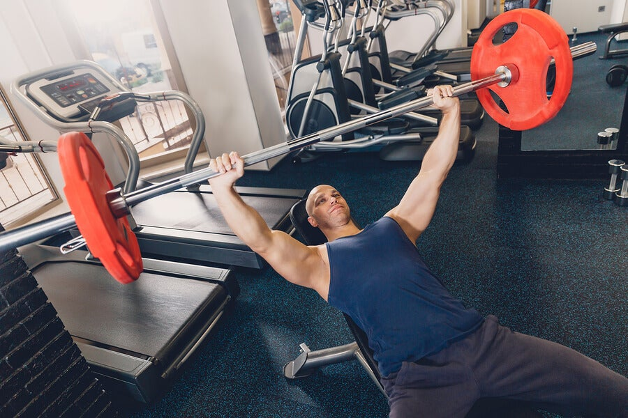 Gym bench press