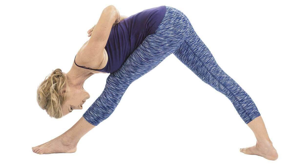 Woman performing yoga posture