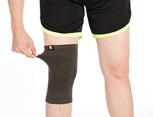 Best knee support gray sleeve