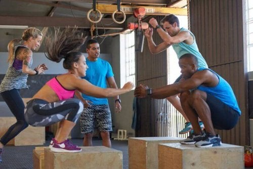The CrossFit box jump is more challenging that a regular squat.