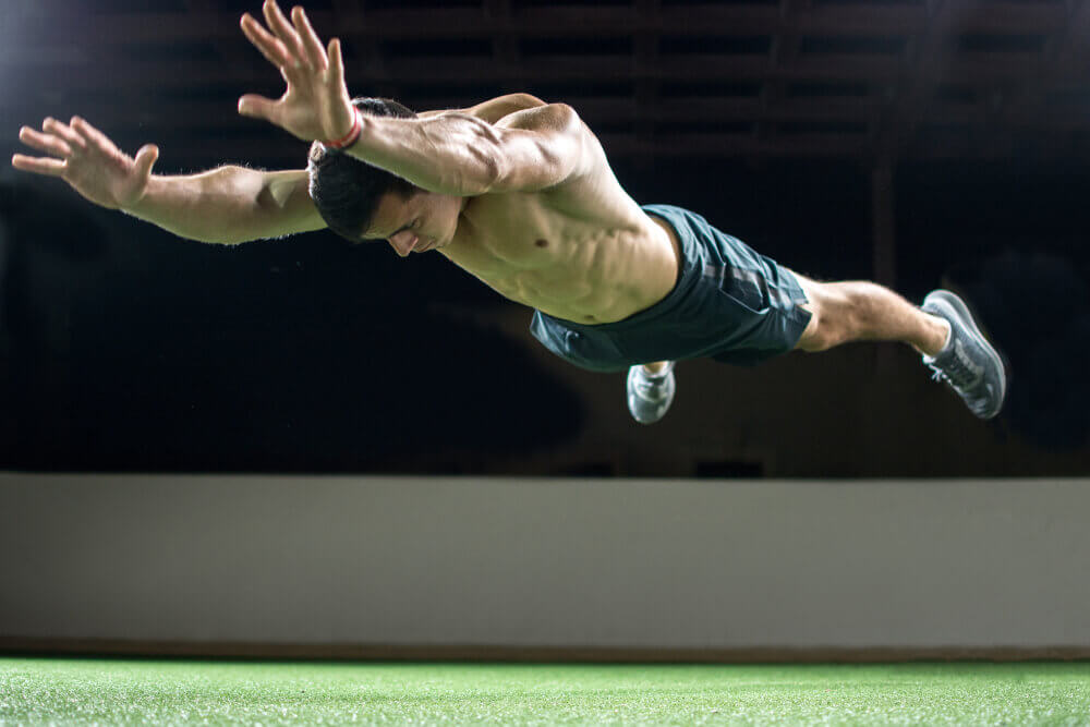 Superman lizard exercise