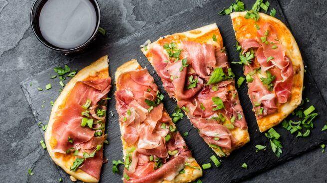 healthy pizza spanish ham