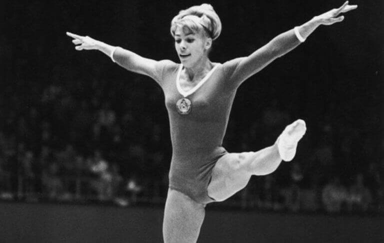 Larisa Latynina during an Olympic performance that got her several medals