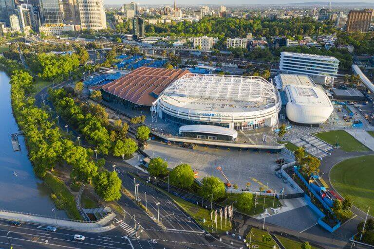The Rod Laverne Arena in which the Australian Open takes place