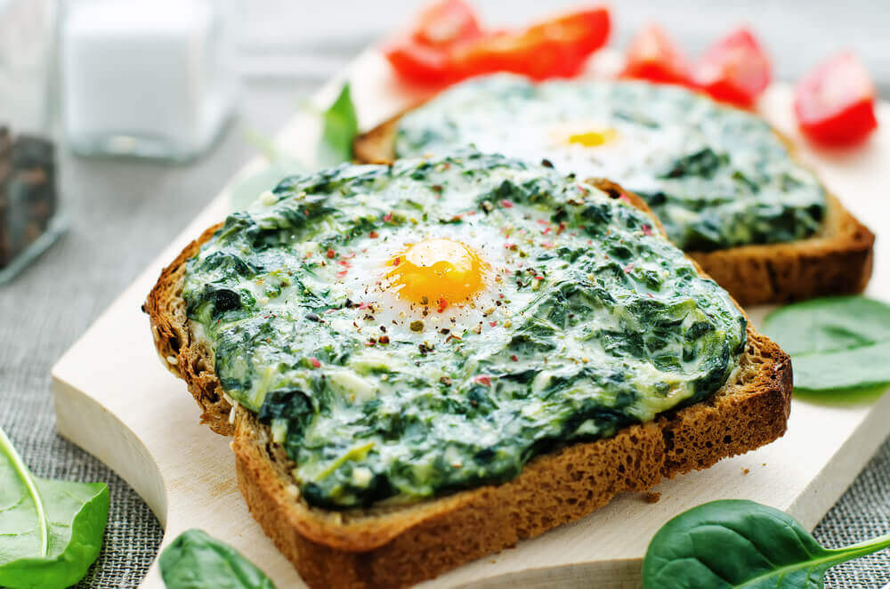 breakfast fiber spinach