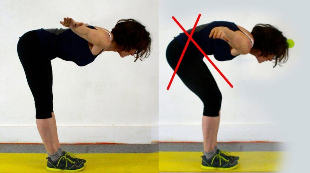 proper way to do a good morning exercise bending with back straight
