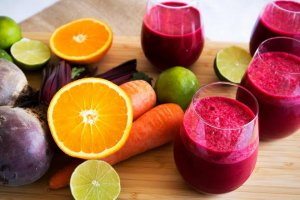 A juice made with antioxidant foods