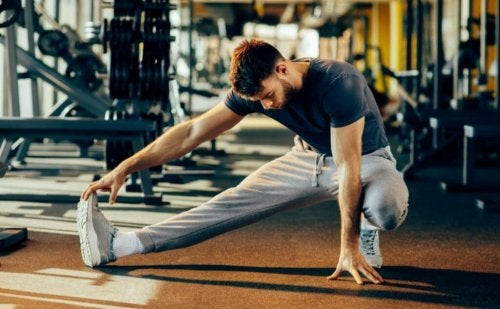 Man stretching muscle deterioration