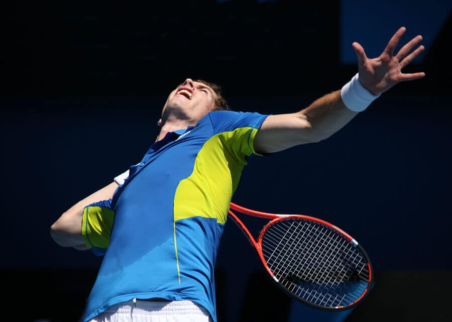 Andy Murray serve
