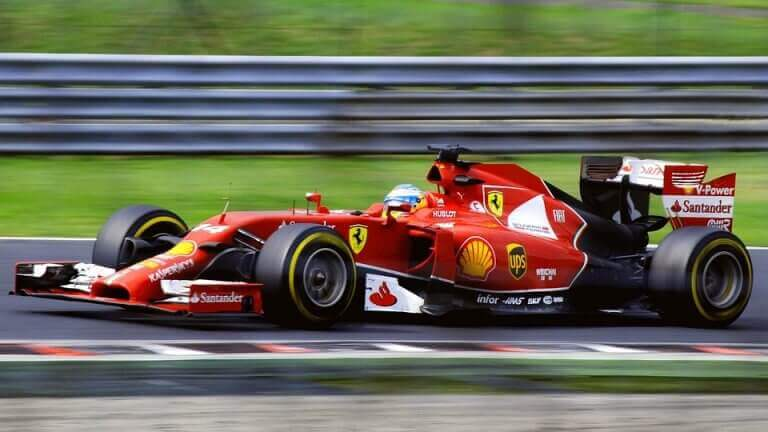 A single-seater racing car for Formula 1